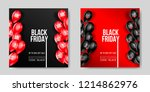 black friday sale poster with... | Shutterstock .eps vector #1214862976