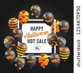 halloween sale promotion...   Shutterstock .eps vector #1214870950