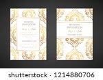wedding invitation templates....   Shutterstock .eps vector #1214880706