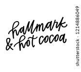 hallmark and hot cocoa | Shutterstock .eps vector #1214886049