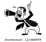 announcer with megaphone  ... | Shutterstock .eps vector #121488949