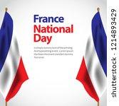 france national day vector...   Shutterstock .eps vector #1214893429
