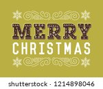 merry christmas typography... | Shutterstock .eps vector #1214898046