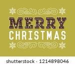 merry christmas typography... | Shutterstock .eps vector #1214898046