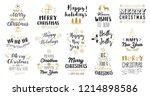 christmas decoration set of... | Shutterstock .eps vector #1214898586