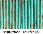 wall zinc rust | Shutterstock . vector #1214905429