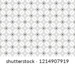 ornament with elements of black ... | Shutterstock . vector #1214907919