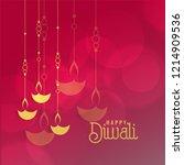 diwali festival greeting card... | Shutterstock .eps vector #1214909536