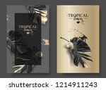 vector banners with black gold...   Shutterstock .eps vector #1214911243