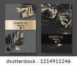 vector tropical banners with... | Shutterstock .eps vector #1214911246