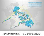 modern of philippines map... | Shutterstock .eps vector #1214912029