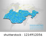 modern of nigeria map... | Shutterstock .eps vector #1214912056