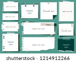 simple note set | Shutterstock .eps vector #1214912266