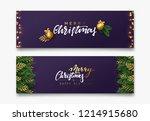 christmas vector background.... | Shutterstock .eps vector #1214915680