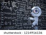 3d rendering cute artificial... | Shutterstock . vector #1214916136