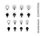 idea icon logo vector symbol.... | Shutterstock .eps vector #1214919256