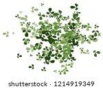 green shamrock confetti pattern ... | Shutterstock .eps vector #1214919349