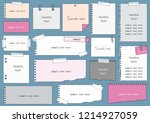 set of handwritten notepad | Shutterstock .eps vector #1214927059