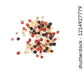 dry trio colour peppercorn... | Shutterstock . vector #1214927779