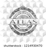 atlas grey emblem with...   Shutterstock .eps vector #1214930470