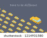 concept. dare to be different.... | Shutterstock .eps vector #1214931580