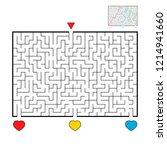 abstract rectangular large maze.... | Shutterstock .eps vector #1214941660