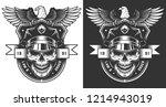 vintage policeman label concept ... | Shutterstock .eps vector #1214943019