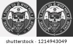 vintage monochrome marine logo... | Shutterstock .eps vector #1214943049