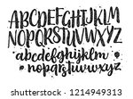 lettering font isolated on... | Shutterstock .eps vector #1214949313