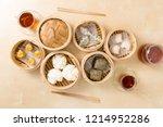 chinese dim sum | Shutterstock . vector #1214952286