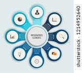infographics design vector and... | Shutterstock .eps vector #1214952640