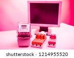 circuit breakers on the... | Shutterstock . vector #1214955520
