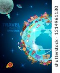 travel airline vacation... | Shutterstock .eps vector #1214961130