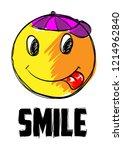 smiley. vector happy face.... | Shutterstock .eps vector #1214962840