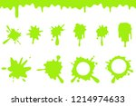 spill green slime splash... | Shutterstock .eps vector #1214974633