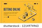 betting on sports online line... | Shutterstock .eps vector #1214974963