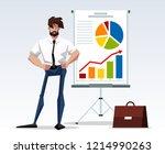 illustration of office worker... | Shutterstock .eps vector #1214990263