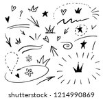 swishes  swoops  emphasis... | Shutterstock .eps vector #1214990869