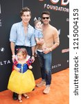 Small photo of Nate Berkus, Jeremiah Brent attend GOOD+ FoundationaE™s 3rd Annual Halloween Bash at Sony Pictures Studio, Los Angeles, California on October 28th, 2018