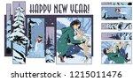 stock illustration. people in...   Shutterstock .eps vector #1215011476