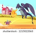 hero knight ridder fighting... | Shutterstock .eps vector #1215022063
