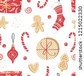 vector seamless pattern with... | Shutterstock .eps vector #1215022330