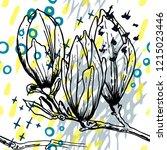 tropical  stripe  animal motif. ...   Shutterstock .eps vector #1215023446