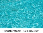 blue pool water with sun... | Shutterstock . vector #121502359