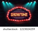 shining sign showtime with... | Shutterstock .eps vector #1215024259