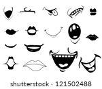 cartoon mouths | Shutterstock .eps vector #121502488