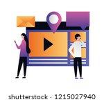 social media digital | Shutterstock .eps vector #1215027940