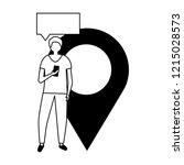 social media digital | Shutterstock .eps vector #1215028573