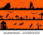 vector halloween illustration... | Shutterstock .eps vector #1215031510