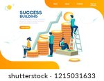 alternative progress  building... | Shutterstock .eps vector #1215031633